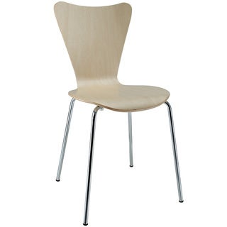 Arne Jacobsen Style Series 7 Natural Wood Side Chair
