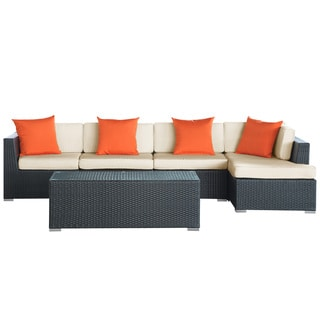 El Outdoor Rattan Outdoor Sectional 5-piece Set