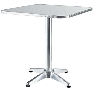 Strata Modern Square Aluminum Outdoor Table