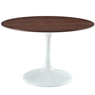 Eero Saarinen Style Walnut/ White 48-inch Tulip Dining Table