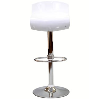 Dazzle White Bar Stool