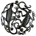 Haitian Metal Art 'Two Geckos' Wall Out (Haiti)