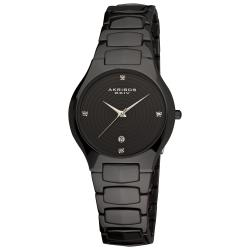 Akribos XXIV Women's Quartz Slim Ceramic Watch