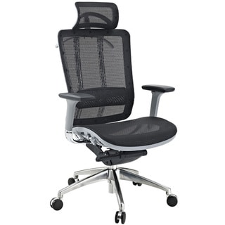 Grey Modern Office Chair with Headrest