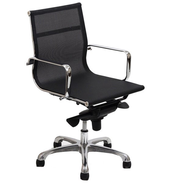 Regis Black Mesh Low Back Office Chair
