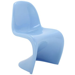 """S"" Style Baby Blue Chair"