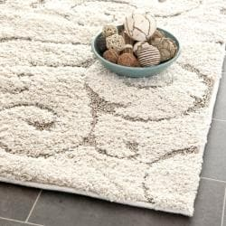 "Ultimate Cream/Beige Shag Runner Rug (2'3"" x 11')"