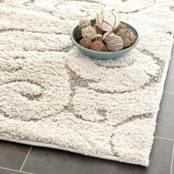 "Ultimate Cream/Beige Shag Runner Rug (2'3"" x 9')"