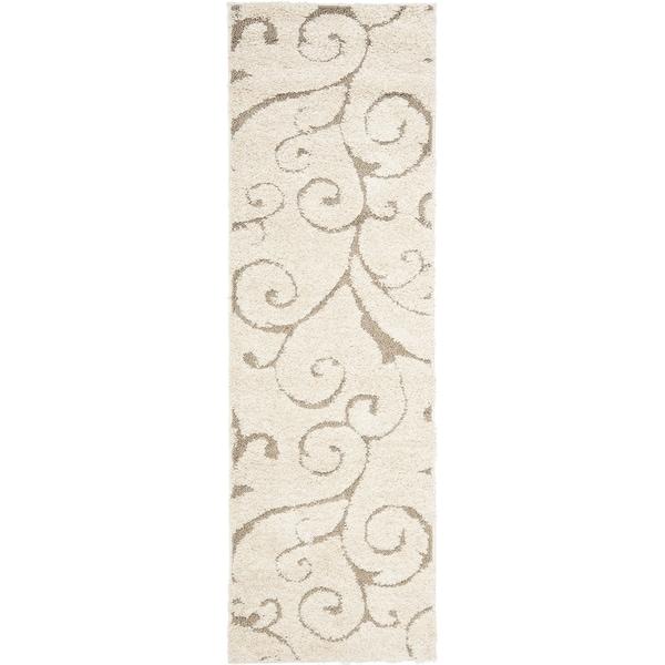 Safavieh Florida Ultimate Shag Cream/ Beige Rug (2'3 x 9')