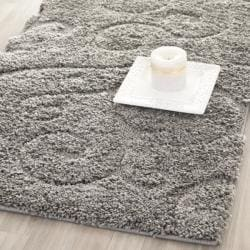Safavieh Ultimate Dark Grey/ Beige Shag Rug (2'3 x 9')