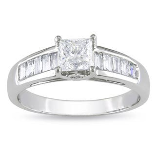 Miadora 14k White Gold 1ct TDW Princess Diamond Ring (G-H, I1-I2)