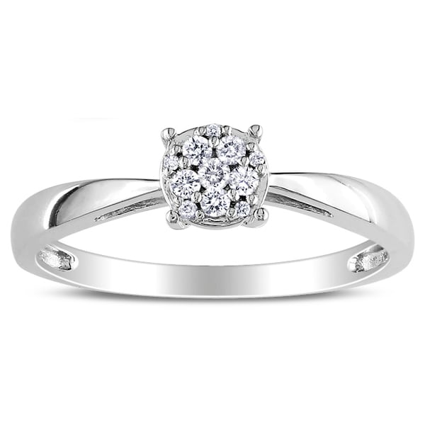 Miadora 14k White Gold 1/3ct TDW Diamond Ring (G-H, I1-I2)