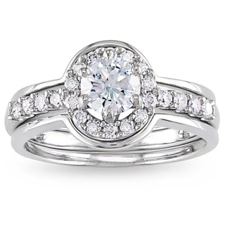 Miadora 14k White Gold 1ct TDW Diamond 3-piece Bridal Ring Set (H-I, I2-I3)