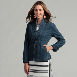 Stitch Down Ruffle Denim Jacket