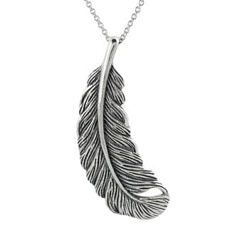 Tressa Sterling Silver Feather Necklace