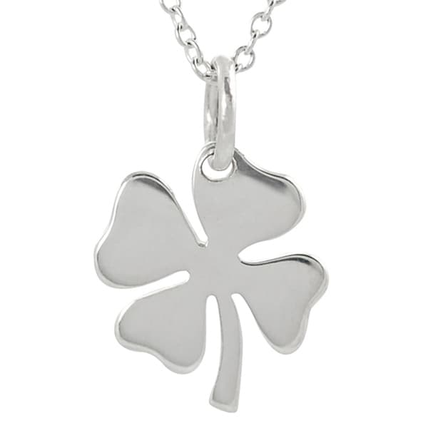 Journee Sterling Silver Four Leaf Clover Necklace