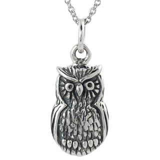Tressa Sterling Silver Owl Necklace