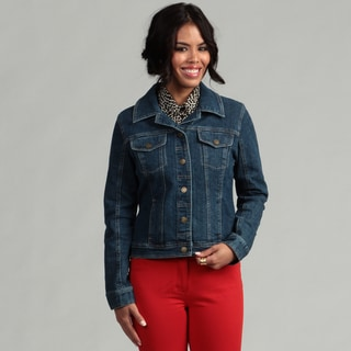 Live A Little Women's Cropped Denim Jacket
