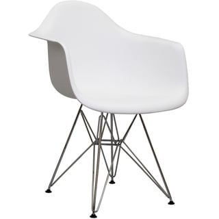 Paris Wire White Arm Chair
