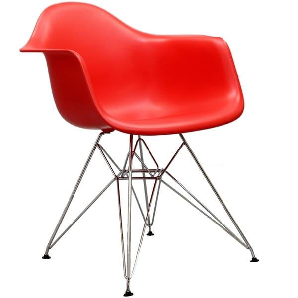 Paris Wire Red Arm Chair