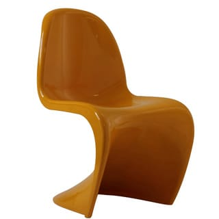 """S"" Style Yellow Chair"