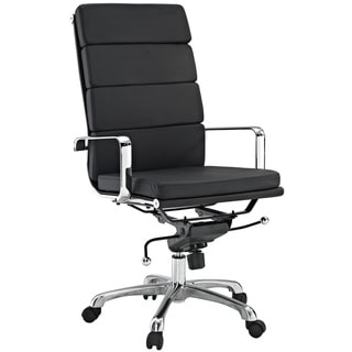 City High-Back Black Vinyl Conference Office Chair