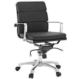 City Mid-back Black Vinyl Conference Office Chair