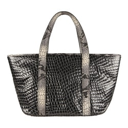 Vintage Reign 'Kiki' Grey Python Embossed Leather Tote Bag