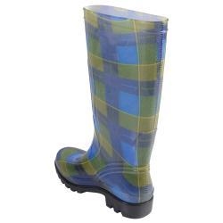 Hailey Jeans Co Women's 'Rain' Plaid Rubber Rainboots