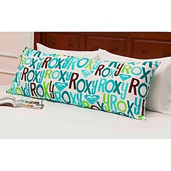 Roxy 'Pacific' Teal Logo Body Pillow Cover