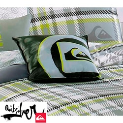 Quiksilver Disruptor Black Vinyl Decorative Pillow