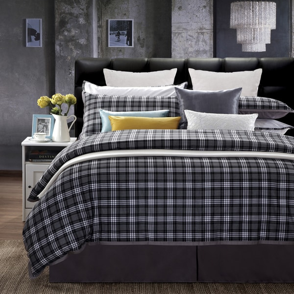 EverRouge Checkers 7-piece Queen Cotton Duvet Set
