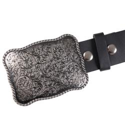 Journee Collection Women's Metal Scroll Flower Design Buckle Belt