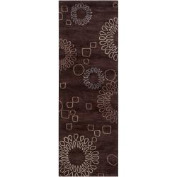 "Hand-Tufted Brown Ameila Polyester Area Rug (2'6"" x 7'6"")"