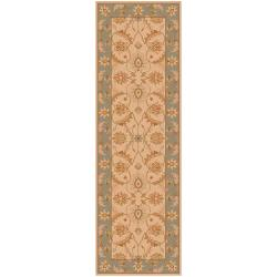 Hand-tufted Tan Clifford New Zealand Wool Rug (2'6 x 8')