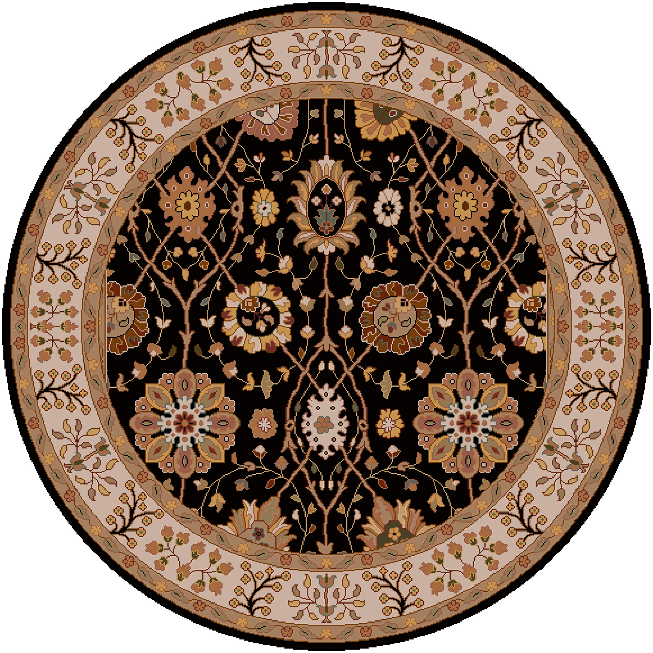 Hand-tufted Black Clifford New Zealand Wool Rug (8' Round)