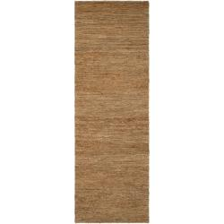 Hand-woven Green Dominican Natural Fiber Hemp Rug (2'6 x 8')