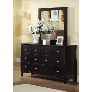 Furniture of America Espresso Wood Dresser with Mirror