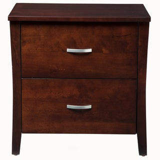 'Mellowi' Semi-gloss Brown Cherry Nightstand
