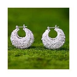 Sterling Silver Origins of Life Earrings (Indonesia)