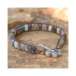 Silver 'Natural Mystique' Agate Bracelet (Thailand)