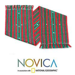 Handcrafted Cotton 'Maya Christmas' Table Runner (Guatemala)