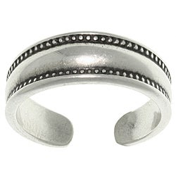 CGC Sterling Silver Bali Edge Toe Ring