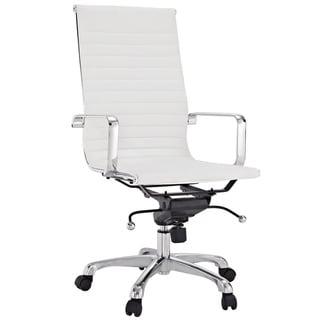 Malibu High-back White Vinyl Office Chair