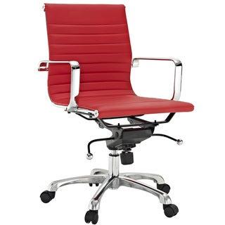 Malibu Mid-back Red Vinyl Office Chair