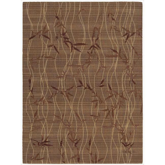 "Nourison Home Brown Area Rug (5'6"" x 7'5"")"