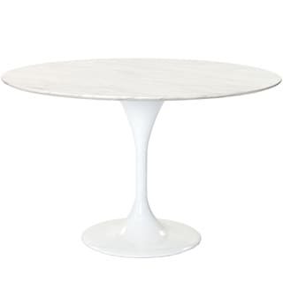 Eero Saarinen Reproduction 48-inch White Marble Tulip Dining Table