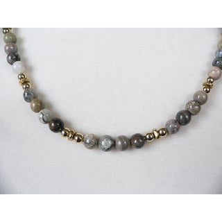'Renley' Men's Jasper Bead Necklace