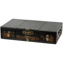 Black Lacquer Mirror Jewelry Box (China)