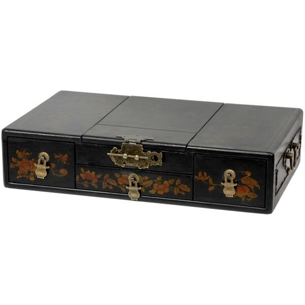Black Lacquer Mirror Jewelry Box (China)